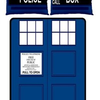 Much Needed Merch | TARDIS Large Bed Set - Fleece Blanket 2 Pillow Cases | Online Store Powered by Storenvy