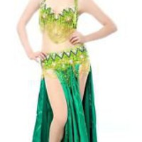 New belly dance 2 pics costume 38B/C bra&Belt 11 colour | eBay