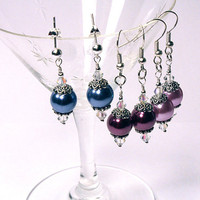 Pearl Earrings, Choose Color, Style