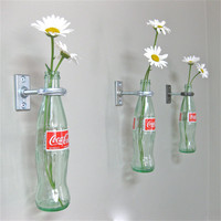 CocaCola Bottle Hanging Vase Set of 3 by GreatBottlesofFire