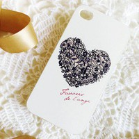 New Chic Lace Heart iPhone 5 Hard Case Cover