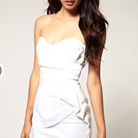 TFNC | TFNC Front Detail Bandeau Mini Dress at ASOS