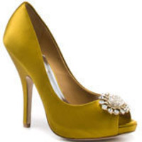 Lissa - Gold Satin, Badgley Mischka, $244.99, FREE 2nd Day Shipping!