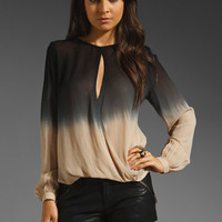 Young, Fabulous &amp; Broke Caliente Ombre Top in Black from REVOLVEclothing.com