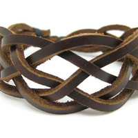 Surfer Bracelet Made of Leather B265 by mooli360 on Etsy