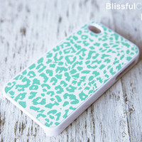 iphone 4 case - Mint Leopard case