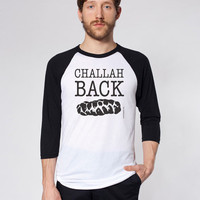 Challah Back - Men&#x27;s Baseball Jersey - FREE SHIPPING