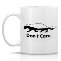 Honey Badger Mug - The Honeybadger Don't Care Porcelain Coffee Mug