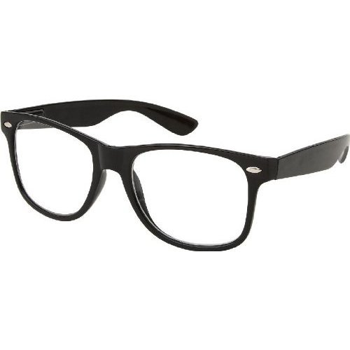 Nerd Glasses Without Frame : Nerd Glasses Wayfarer Black Frame Clear from Amazon ...