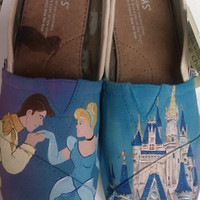 Cinderella&#x27;s Happily Ever After hand painted TOMS