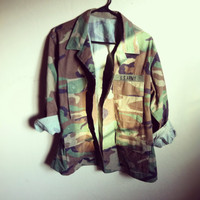 Hipster camouflage army jacket