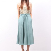 Dusty Sage Maxi Skirt - ramona west