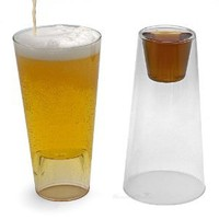 Shot in the Pint Drinking Glasses, Set of 2: Amazon.com: Kitchen & Dining