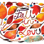 Fall Watercolor Illustration Print Brown Alphabet Autumn Feather Leaves