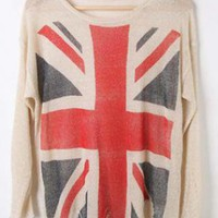 Bat Long Sleeve Plaid Long Sleeve Sweater  S000154