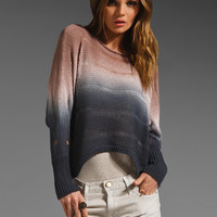 Young, Fabulous & Broke Rainbow Sweater in Coffee/Black Color Block from REVOLVEclothing.com
