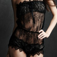 Chantilly Romper in SHOP Attire Underpinnings Lingerie at BHLDN