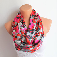 Infinity Scarf Loop Scarf Circle Scarf Cowl Scarf Soft and Lightweight Pink Red Grey Black