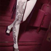 tattoo tights - bebaroque