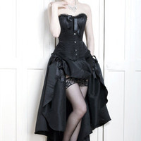 Black widow burlesque dress