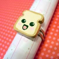 Happy Toast Ring by TheHappyDonut on Etsy