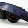 Galaxy Camera Strap, Handpainted, OOAK, dSLR or SLR, Cosmos
