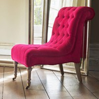 Zelda Nursing Chair in Pink Velvet