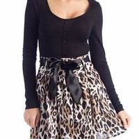 leopard print twofer dress