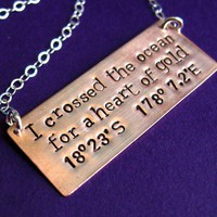 I crossed the ocean Necklace | Spiffing Jewelry