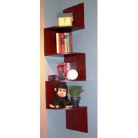 Amazon.com: 4D Concepts Hanging Corner Storage, Cherry: Home & Garden