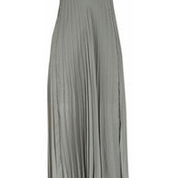 Willow|Pleated satin-jersey bustier dress|NET-A-PORTER.COM