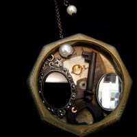 Faeries Found Crystals and Relics  Pocket Watch Case by faefactory