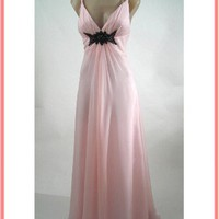 Nina Canacci Pink Chiffon Empire Bridesmaid Dresses- Prom Dress- Evening Gown