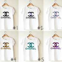 Unisex Tee - Chanel LOGO in different pattern