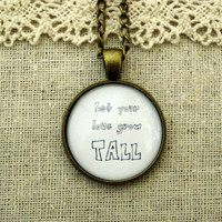 Passion Pit Let Your Love Grow Tall Inspired Lyrical Quote Necklace