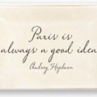 "Ben's Garden, Inc. -    Paris Is Always 4""x 6"" Glass Trinket Tray"