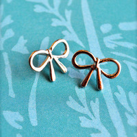 A Silver Lining Bow Earrings | Trinkettes