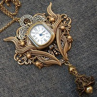 Steampunk watch brooch or pendant by Aranwen on Etsy