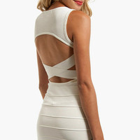 Open Mesh Bandage Dress $65