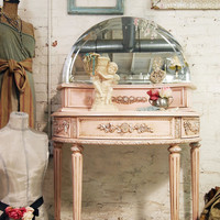 Shabby Pink Painted Cottage Vanity by paintedcottages on Etsy