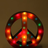 UrbanOutfitters.com &gt; Peace Sign Marquee Light