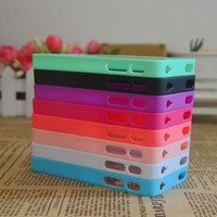 8x Colorful Bumper Back High Clear Hard Cover Case Skin for iPhone 4 4S 4GS