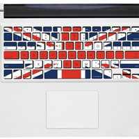 UK flag keyboard sticker  Mac Book Mac Book Air Mac Book Pro Mac Sticker Mac Decal Apple Decal Mac Decals