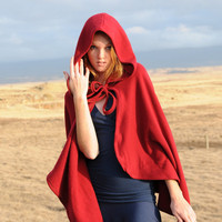 Women&#x27;s Red Riding Hood Halloween Costume Autumn Cape by SoulRole
