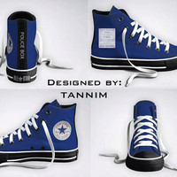 The ORIGINAL Custom Doctor Who/TARDIS Converse Chucks