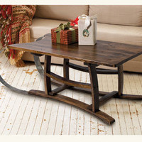 Barrel Stave Sled Table - Home & Garden - New - NapaStyle