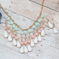 glasgow beaded necklace in pink - $26.99 : ShopRuche.com, Vintage Inspired Clothing, Affordable Clothes, Eco friendly Fashion