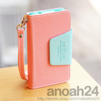 Pastel Phone Case_P/ardium iPhone4, 4S Korean wallet flip type cute case cover