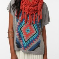 UrbanOutfitters.com &gt; Staring at Stars Netted Fringe Eternity Scarf