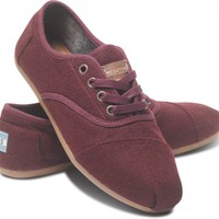 Burgundy Wool Women&#x27;s Cordones | TOMS.com